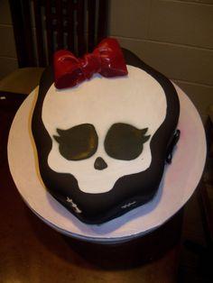 Monster High Skull Cake - I have made