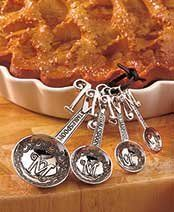 Set of 4 Monogram Measuring Spoons M ** Click for Special Deals #MeasuringSpoons