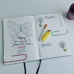 Bullet Journal Tracker, Bullet Journal Mood, Bullet Journal Layout, My Journal, Journal Prompts, Bullet Journal Inspiration, Journal Ideas, Bullet Journals, Hand Lettering Fonts