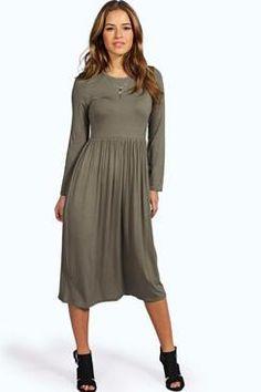 Petite Mia Long Sleeve Midi Dress