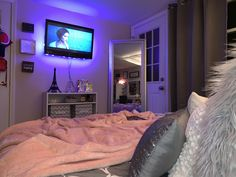 Girls Bedroom, Bedroom Ideas, Bedroom Decor, Apartment Ideas, Future House, Sweet Home, Lights, Furniture, Design