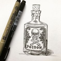   Inktober Day 3-Poison. In this one I wanted to push myself if it comes to details. Hope you'll like it   . . . #art #artist #artistsoninstagram #instaart #instadraw #artwork #draw #drawing #illustration #traditionalart #shading #artoftheday #sketchbook #inktober #inktober2017 #ink #poison #bottle #skull #micron #inklouvre #worldvisiualcollective #dude_arts_help #sharemearts #hypnotizing_arts #artists_worldly #artsmazingz #artzgodz
