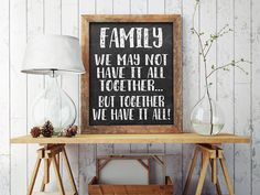 75% OFF Chalkboard Family Quote Print by ColorfulCloudStudio