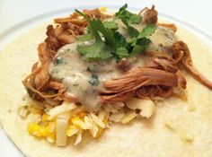 A Taste of Home Cooking: Sweet Pork Tacos with Cilantro Ranch Dressing