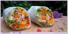 Bester low carb Wrap ohne Teigfladen mit Salat, Schinken und Frischkäse abnehmen schlankmitverstand