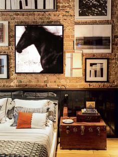 Modern Horse painting custom black white by BARKADESIGN on Etsy