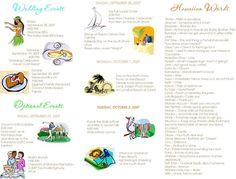 Destination Wedding Itinerary Template Starfish Beach Tropical