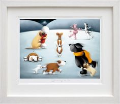 Dancing on Ice Framed Art Print by Doug Hyde