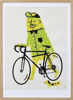 Bike Rider by Little Friends of Printmaking