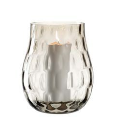 Illuminate your home with this Marrone hurricane lamp from Leonardo. In a smoky brown shade, this vase is ideal for holding a flickering pillar candle and has a smooth, curved shape. Patterned with a