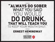#wine #quote #hemingway