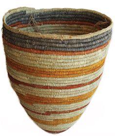 Aboriginal basket weaving with dyed pandanus leaves by Logash Weaving Art, Hand Weaving, Fibre And Fabric, Australian Art, Indigenous Art, Aboriginal Art, Basket Weaving, Woven Baskets, Fiber Art