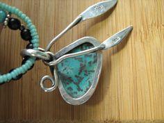 Shattuckite Beaded Necklace by CreativeEddy on Etsy