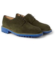 Mark McNairyContrast-Sole Suede Derby Shoes