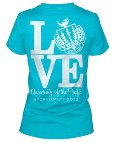 Panhellenic shirts in different colors! Your university's colors would be presh!