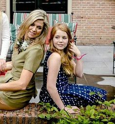 Queen Maxima of the Netherlands and Princess Alexia. July 8 2016