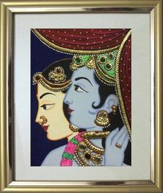 Radha Krishna 2a - 11x9 in