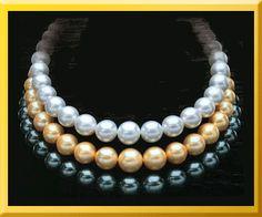 One of each please!  South Sea Pearls, Golden South Sea Pearls & Tahitian Pearls.