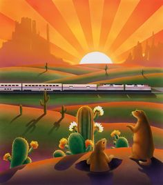 Amtrak on the Prarie