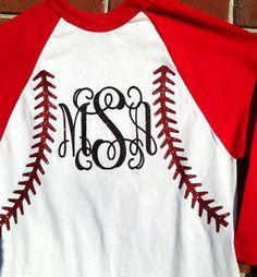 Monogram Baseball jersey Youth & Adult by HeyYallandCo on Etsy