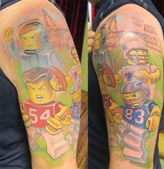 Football game tattoos