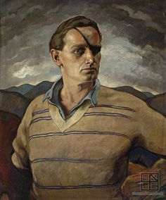 Self Portrait, 1924 by Edmund Gwerk on Curiator, the world's biggest collaborative art collection. Marcus Black, Digital Museum, Collaborative Art, Mirror Image, Oil On Canvas, Self, Gallery, Artwork, Painting