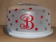 Sterilite Cake Carrier W/ Vinyl Monogram Photo: This Photo was uploaded by Bamadog315. Find other Sterilite Cake Carrier W/ Vinyl Monogram pictures and ...