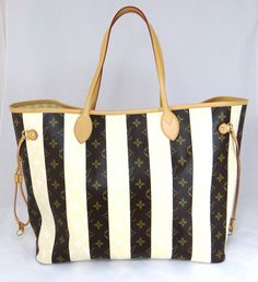 100% AUTHENTIC LOUIS VUITTON Monogram Rayures  Neverfull GM Tote Bag  TRAVELBAG