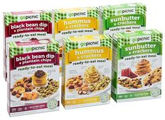 GoPicnic Ready-To-Eat Meals: Tasty Favorites Variety Pack (Pack of 6)