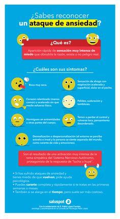 Infografía sobre el ataque de ansiedad.