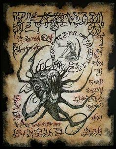 Arte oscuro del forastero del larp fragmento del Necronomicon DEVORADOR del más allá