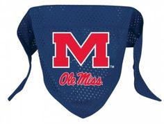 Ole Miss Dog Bandana