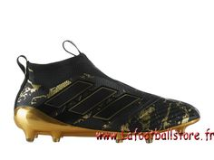 pretty nice 8dfff a39a0 Adidas Football Homme Chaussure PP ACE 17+ PURECONTROL terrain souple  BlackMatte Gold BY9143