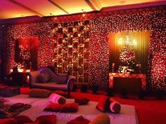 Looking for latest Outdoor Wedding Decorations? Check out the trending images of the best Indian Outdoor Wedding Decoration ideas. Wedding Hall Decorations, Marriage Decoration, Engagement Decorations, Backdrop Decorations, Flower Decorations, Backdrops, Reception Stage Decor, Wedding Reception Backdrop, Event Decor