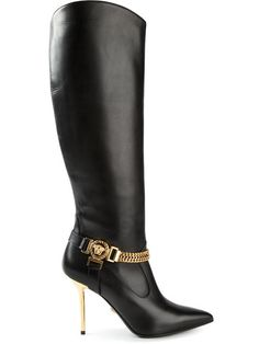 Shop Versace Medusa knee high boots in Elite from the world's best independent boutiques at farfetch.com. Over 1000 designers from 60 boutiques in one website.
