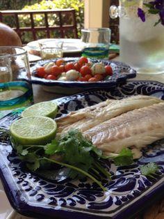LUBINA A LA SAL CON MAYONESA DE CILANTRO #Branzino #Salt #Fish
