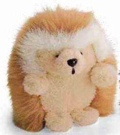 c170d3d6c96 Gund 12044 Ganley Hedgehog Tan with Organza Pull String Bag