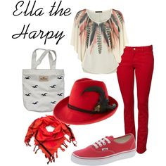 """""""Ella the Harpy (casual)"""" by ellalea on Polyvore  Also super cute an looks very authentic"""