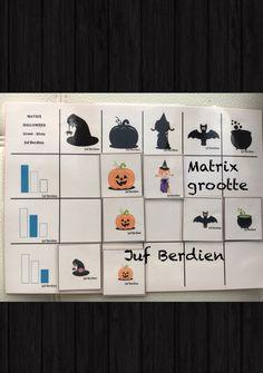 Juf Berdien zelfgemaakte matrix thema Halloween grootte game Preschool theme Halloween size