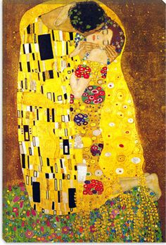 The Kiss By Gustav Klimt Canvas Giclee Art Print 304 by iCanvasART, $69.99