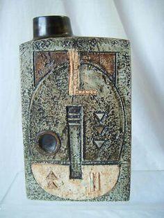 Troika - rectangular vase Ceramic Artists, Vintage China, Ceramics, Pottery Ideas, Antiques, Flasks, Van Gogh, Bottles, Mid Century