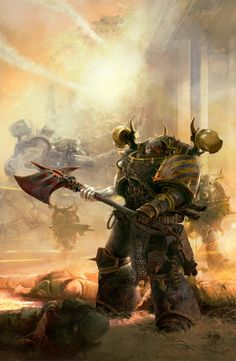 """renegade-chaos-druid: """" That war was Ten thousand years ago…. """"To you maybe, but to the Iron Warriors it was yesterday, the blink of an eye. You think the passage of years matters to something as powerful as vengeance? When you dwell in a place where..."""
