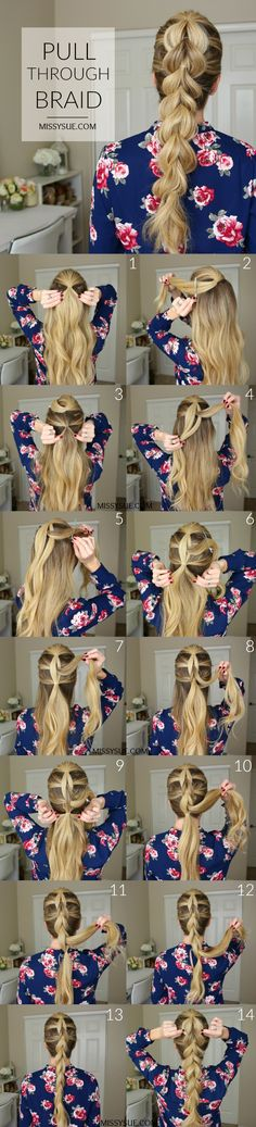 pull-through-braid-hair-tutorial. , pull-through-braid-hair-tutorial Trendy Hairstyles, Braided Hairstyles, Beautiful Hairstyles, Hairstyles Haircuts, Wedding Hairstyles, Pull Through Braid, Braids For Short Hair, Hair Day, Hair Looks