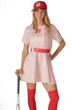 """A Rockford Peach costume from """"A League of Their Own"""" would make a great costume for Halloween (or a costume party during any time of the year!)...."""