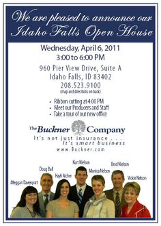 Open House Invitation Business Professional Pinteres