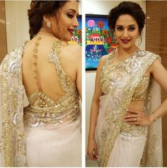 Now that's what we call star attire. The actress has scorched the silver screen for decades with her different avatars, but this is undoubtedly her best look so far. Madhuri's spunk is remarkable as she carries off loud embroideries and bling with such ease.