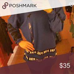 Vs pink logo top XS Vs pink logo top XS PINK Victoria's Secret Tops Sweatshirts & Hoodies
