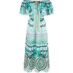 Temperley London Dream Catcher Tie Dress (1,640 CAD) ❤ liked on Polyvore featuring dresses, silk dress, blue dress, temperley london dress, temperley london and silk tie dress