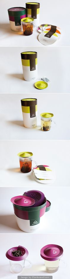 Cute tea and clever tea bag #packaging curated by Packaging Diva PD created via https://www.behance.net/gallery/Douli-Color-Tea-Packaging/3396897