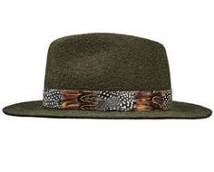 Wollfilz-Hut in Elementary Qualität, Feder-Hutband, wasserfest;  Farbe: dunkelbraungrau melange Elegant, Cowboy Hats, Fashion, Fedora Hat, Headboard Cover, Get Tan, Color, Classy, Moda